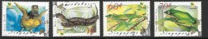 SINGAPORE SG1006/9 1999 AMPHIBLIANS AND REPTILES FINE USED