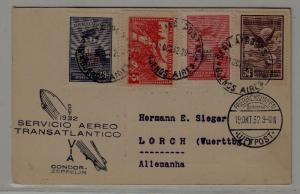Argentina/Germany Zeppelin card 11.10.32