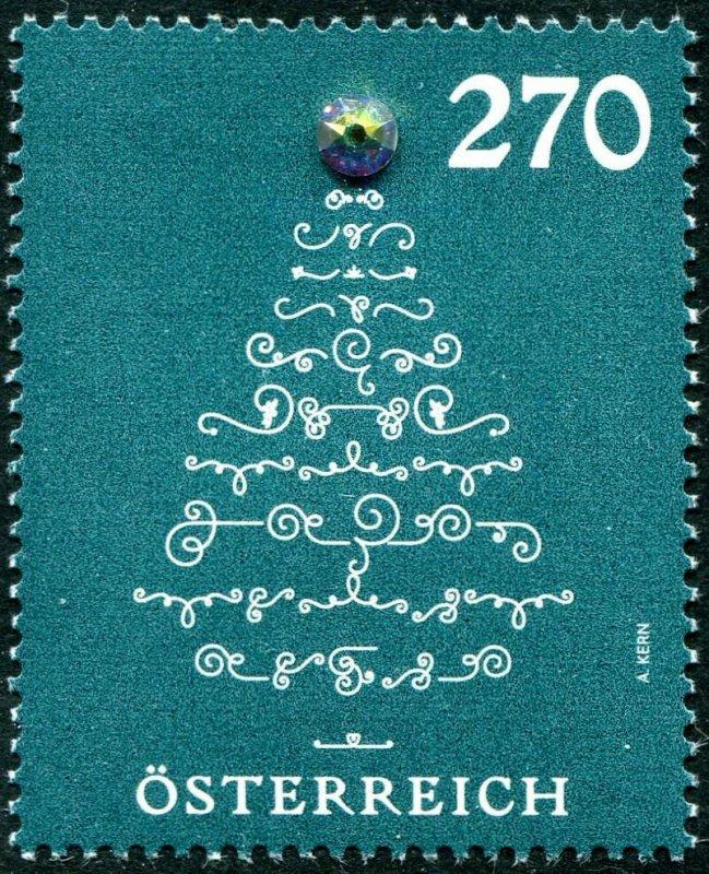 HERRICKSTAMP NEW ISSUES AUSTRIA Christmas 2019 Tree w/ real crystal