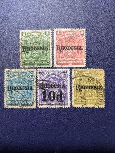 Rhodesia 82-83,85-87 F-VF, CV $12.40