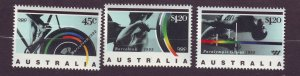 J23793 JLstamps 1992 australia set mnh #1268-70 sports