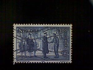 Norway (Norge), Scott #806 used (o), 1982, Prince Olav and King Haakon VII, 3k