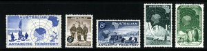 AUSTRALIAN ANTARCTIC TERRITORY 1957-59 The Complete Issues SG 1 to SG 5 MINT
