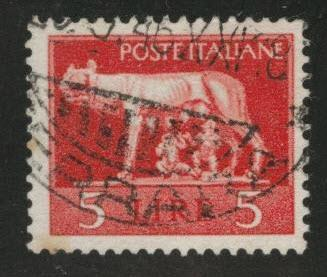 Italy Scott 458 used No Watermark used 1945 stamp