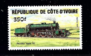 Ivory Coast 726 MNH 1984 Locomotive         (P110)