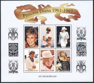 Sierra Leone MNH S/S 2091 Princess Diana