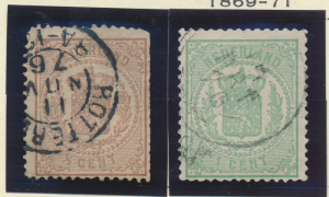 Netherlands Stamp Scott #17 And 19, Used - Free U.S. Shipping, Free Worldwide...