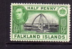FALKLAND ISLANDS ISOLE 1938 CENTENNIAL MONUMENT Whale Jawbones KING GEORGE 1/...