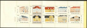 FINLAND Sc#672 1982 Manor Houses Booklet of 10 Different Complete Mint NH