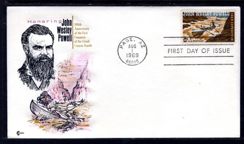 US 1374 John Wesley Powell Cover Craft U/A FDC