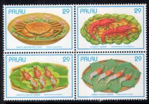 Palau 314 Sea Food MNH VF