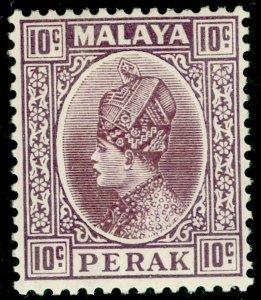 MALAYSIA - Perak SG94, 10c dull purple, VLH MINT.