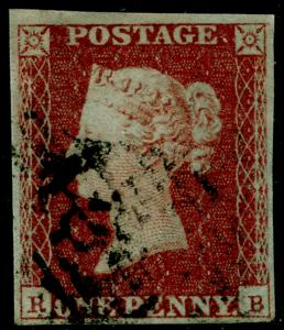 SG10, 1d deep red-brown PLATE 98, FINE USED. Cat £35. RB