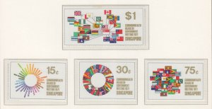SINGAPORE, 1971 Commonwealth Head of Government Meeting set of 4, mnh.