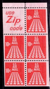 US Stamp #C72 Booklet Pane of 5 MINT NH SCV $3.50