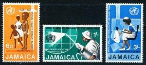 Jamaica MNH 276-8 World Health Organization