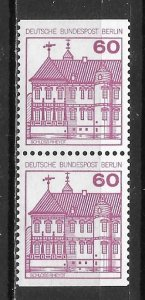 Germany Berlin 9N441 60pf Castles Bklt Pair MNH