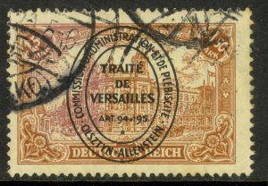 ALLENSTEIN 1920 1.50m RED BROWN GPO BERLIN Oval Overprint Issue Sc 26a VFU