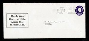 SCOTTISH RITE LADIES NITE (MASONIC) ⭐ SCOTT #U534 ⭐ SALISBURY MD 1955