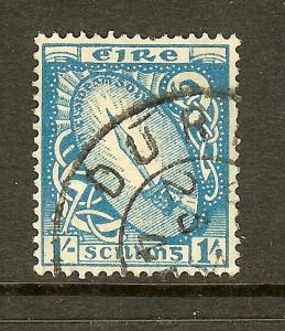 Ireland, Scott #117, 1sh Sword of Light, Fine Ctring, Used