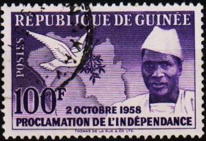Guinea. 1959 100f. S.G.194 Fine Used