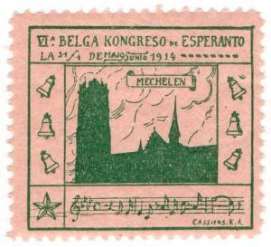 (I.B) Cinderella Collection : Esperanto Congress (Belgium 1914)