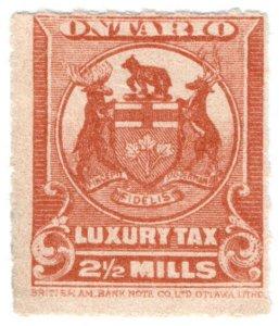 (I.B) Canada Revenue : Ontario Luxury Tax 2½m