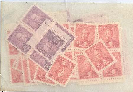 Canada - 1951 Prime Ministers Set of 2 X 50 mint sets #318-9 F+-VF-NH