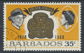 Barbados  SG 377 SC# 308 Girl Guides 1968 Used see scan