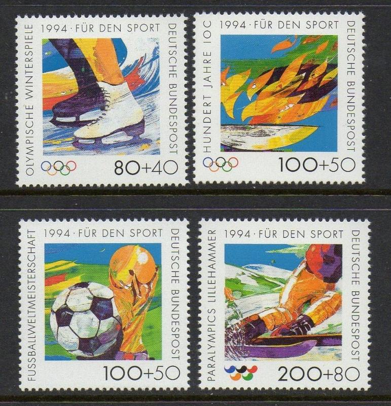 Germany 1994 Sports Olympics VF MNH (B758-61)