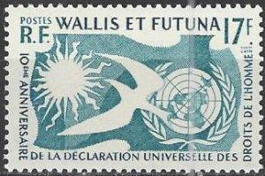Wallis and Futuna Islands  153  MNH  Human Rights 10th Anniversary
