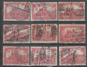 COLLECTION LOT OF #1156 GERMANY  # 92 1905 CLEARANCE STUDY CV + $20