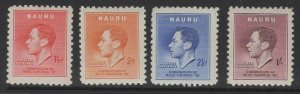 NAURU SG44/7 1937 CORONATION MTD MINT