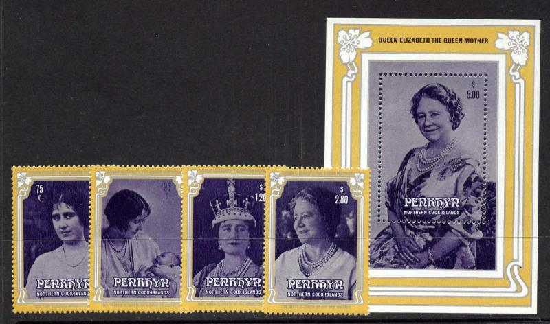 Niue 319-23 MNH Queen Mother 85th Birthday