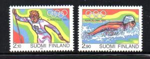 Finland Sc 878-9 1992 Olympics stamp set mint NH