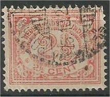 NETHERLANDS INDIES, 1922, used 21/2c, Numeral Scott 106