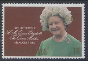 Falkland Is.- Scott 305 - Queen Mum Birthday- 1980- MVLH - Single 11p Stamp