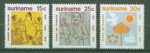 SURINAM/SURINAME 1973 MNH SC.402/404 1st.Immigrants from Indian