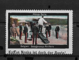 WW-I Propaganda stamp, Belgian soldiers, Artillery: Military Series,VF MLH*OG