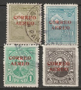Paraguay 1930 Sc C25-8 air post set used/MH*