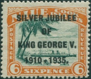 Niue 1935 SG71 6d Silver Jubilee MLH