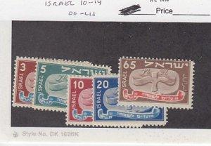 J25796  jlstamps 1948 israel  set  mh #10-14 new year