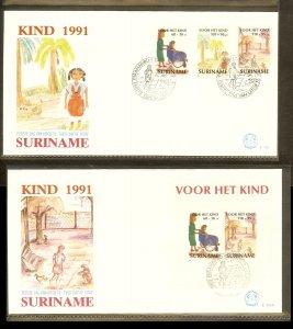 1991 - Rep. Surinam FDC E151+A - Childhood - Children stamps [LN019]