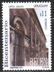 Uruguay. 2001. 2587. Facade of a building in the city of Belen. MNH.