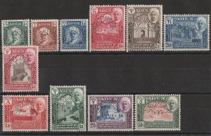 ADEN STATES Shihr & Mukalla : 1942 Pictorial set SPECIMEN MNH **. Scarce genuine