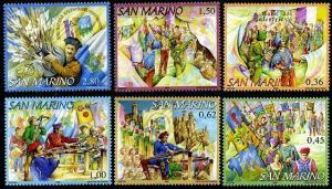 HERRICKSTAMP SAN MARINO Sc.# 1685-90 Crossbow Mint NH Stamps
