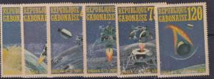 GABONAISE  1971  SPACE RESEARCH SET   NO GUM