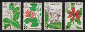 Kiribati Flowers 4v SG#141-144 SC#365-368