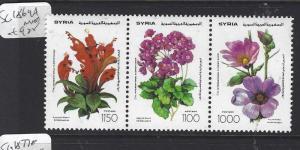 SYRIA  (P2509BB)   FLOWERS  SG 1869A    MNH