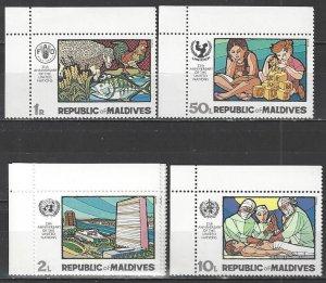Maldive Islands 318-9, 321, 323   MNH  United Nations 25th Anniversary